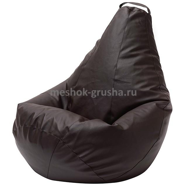 Кресло Мешок Груша Коричневая ЭкоКожа (L, Классический)