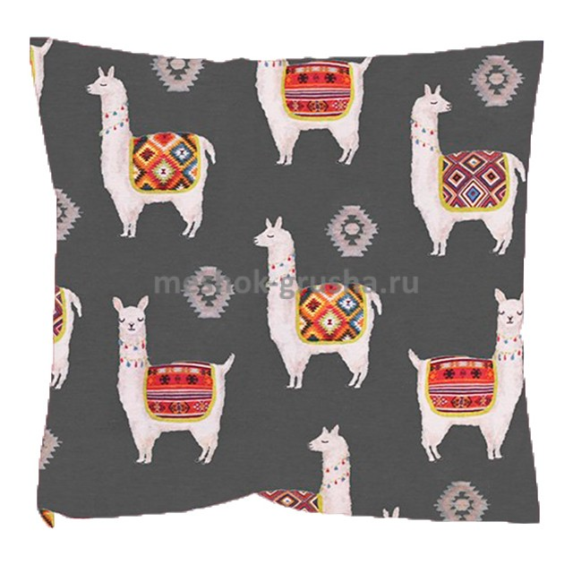 Декоративная Подушка Ламы Серые