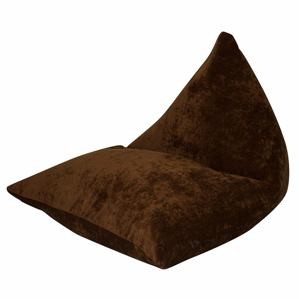 Кресло Пирамида Коричневый Микровельвет