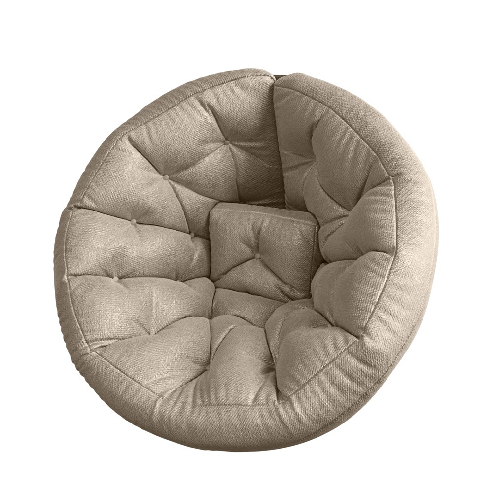 Кресло Футон Светло-Бежевый (Шенилл, XL)